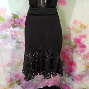 NWT Black Lace Tulip Skirt
